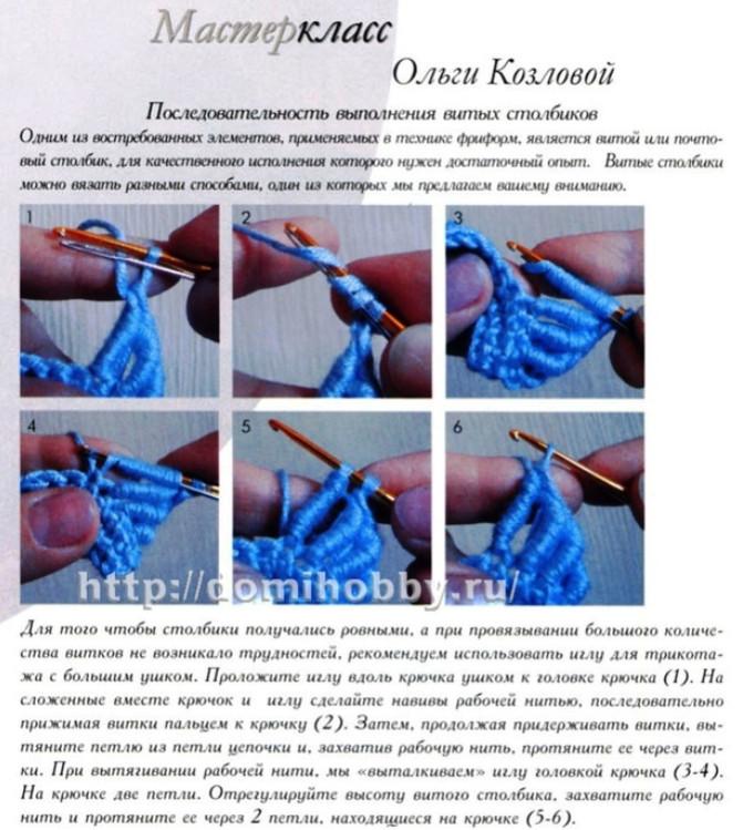 Вязание почтового столбика крючком и применение узора... Узор очень простой и очень эффектный!