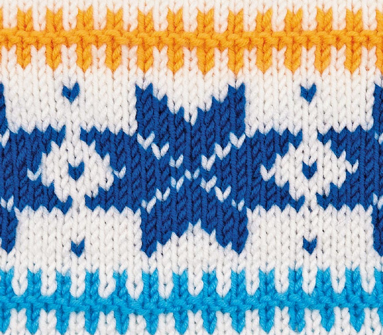 Норвежская звезда: отличный узор для кофт и свитеров...