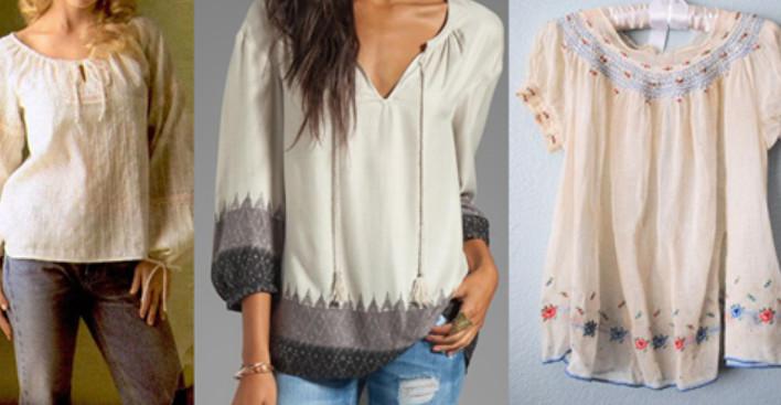 Легкая блуза с элегантной отделкой своими руками + выкройки... Подойдёт для домашних вечеров!