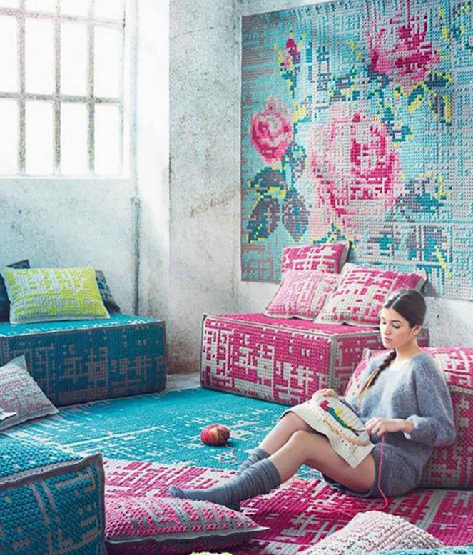 Ах, эта вышивка! Стильный декор интерьера: 25 идей для вдохновения...