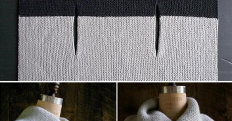 Прямоугольная безрукавка-трансформер: носи как вздумается… Очень оригинальна и проста в вязании!