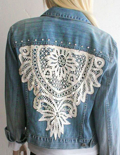 Многообразный декор джинсовых курток: 30 интересных вариантов... Когда хочется придать изюминку!