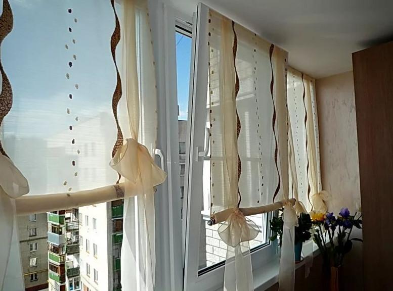 Как сшить вьетнамские шторы своими руками... Оказывается, специального карниза для этой шторы не требуется!