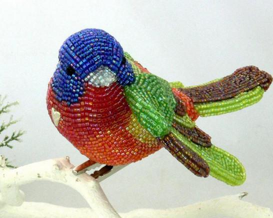 Очаровательные птички из бисера: 17 прелестных работ от Meredith Dada...