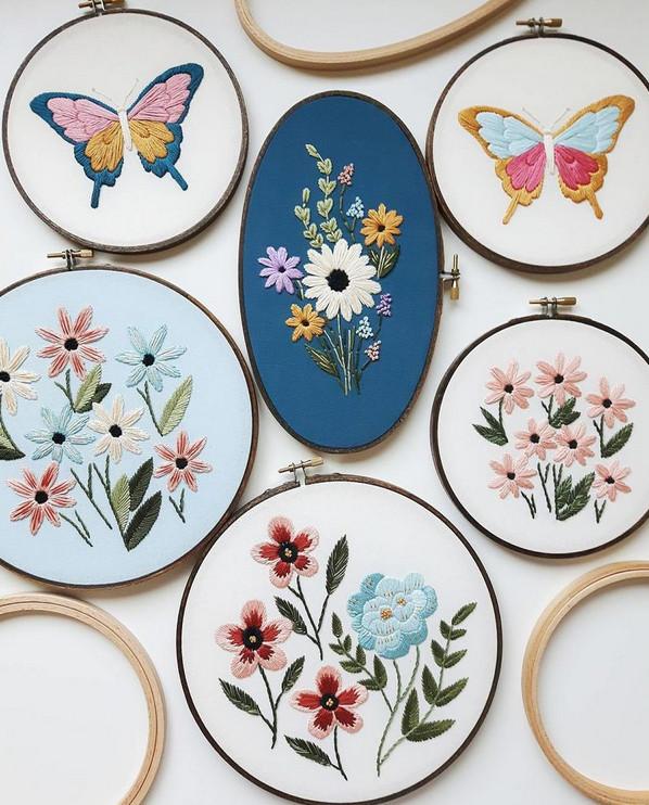 Искусство вышивки от Caitlin Benson... Какие красивые у нее ножницы!