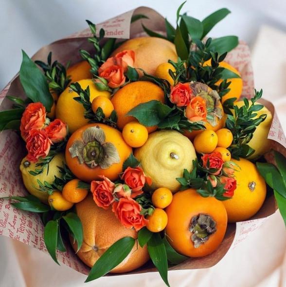 Как сделать букеты из фруктов. Идеи, советы и мастер класс своими руками