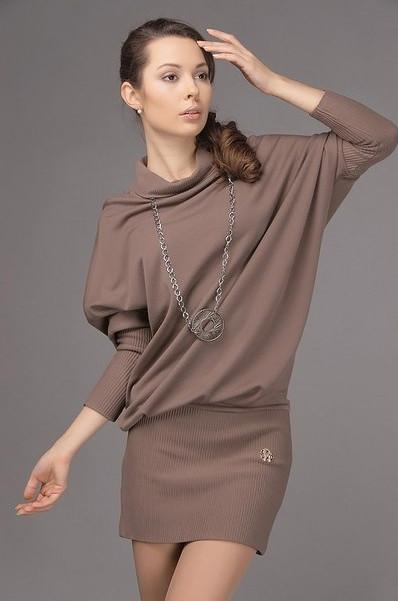 Удобное и модное платье «летучая мышь»... Великолепный наряд своими руками!