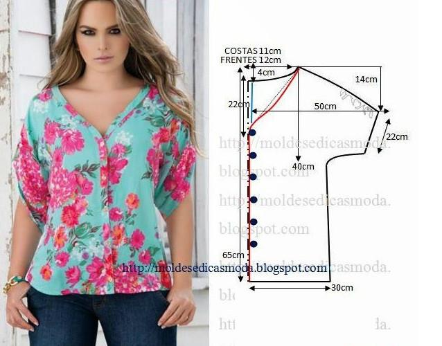 Всего 7 уникальных выкроек! Прекрасные блузки, которые пойдут всем...