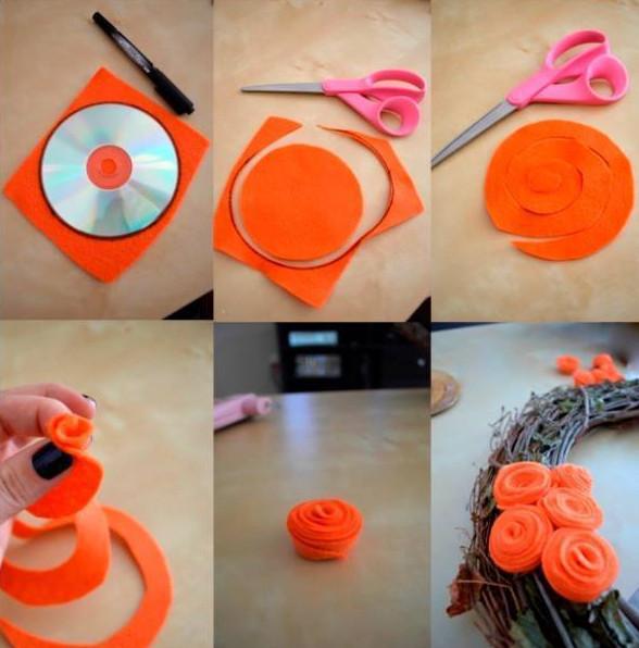 Коллекция МК по созданию цветов из фетра. 12 сочных мастер-классов по созданию цветов из фетра!