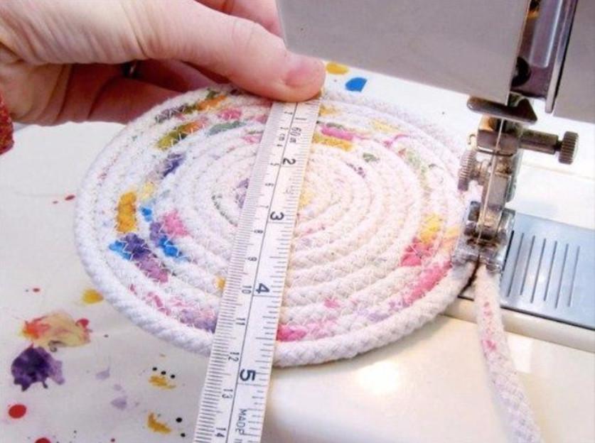 Я в восторге! Делаем разноцветные яркие корзинки из веревок...
