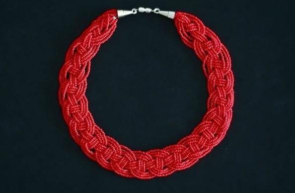 Для стильных дам! Простое ожерелье из бисера своими руками за 30 минут...