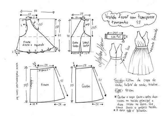 Элегантный праздничный наряд! Изящное платье с прекрасным вырезом + простые выкройки на все размеры...