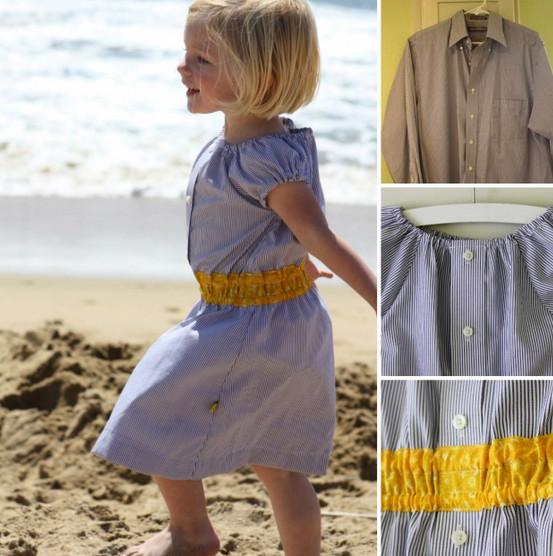 Как превратить старые рубашки в очаровательные летние платьица для девочек? Идеальные детские платья...
