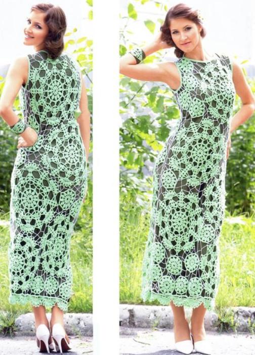 Шикарное платье с браслетом... Уже бегу покупать нитки!