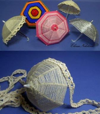 Вы не поверите, но они делаются из шпилек для волос! Декоративные зонтики своими руками...