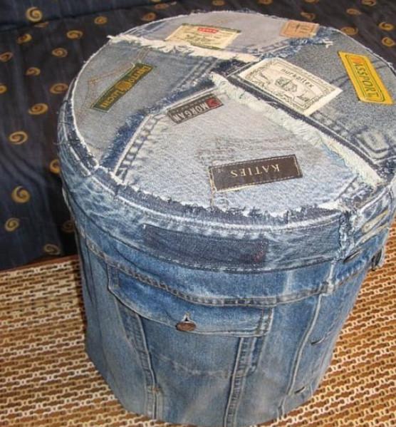 Что ещё можно сделать из старых джинсов? Продолжаем шить красоту из старых джинсов!