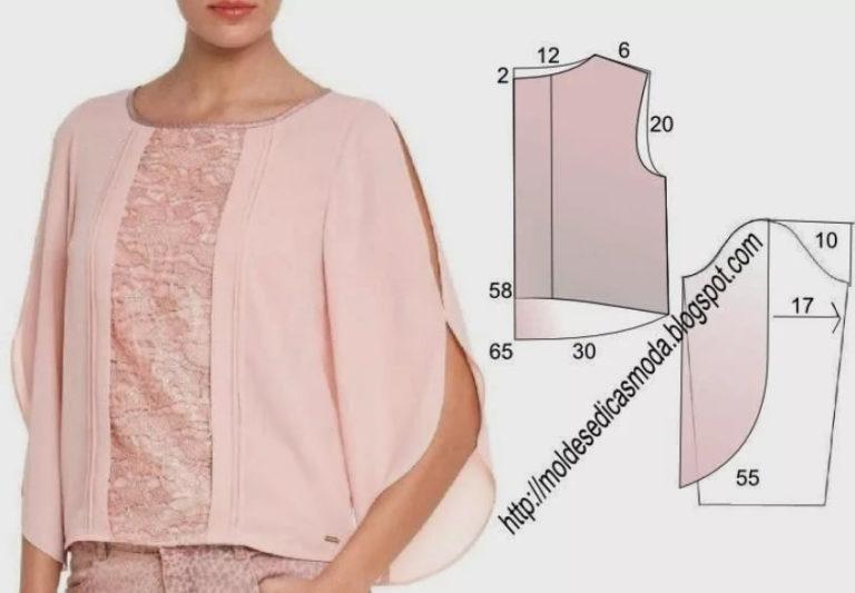 Сшить блузку из трикотажа для полных