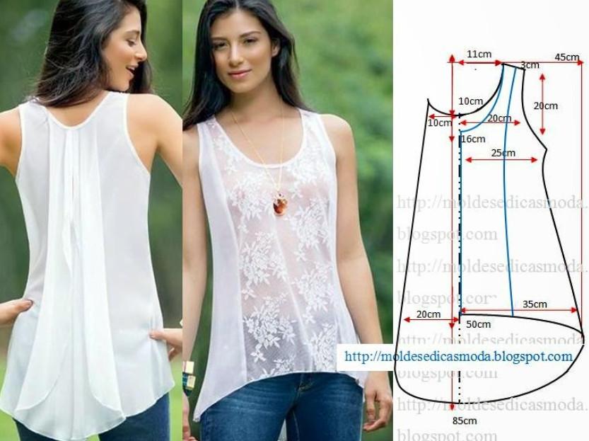 Как сшить удлиненную блузку своими руками