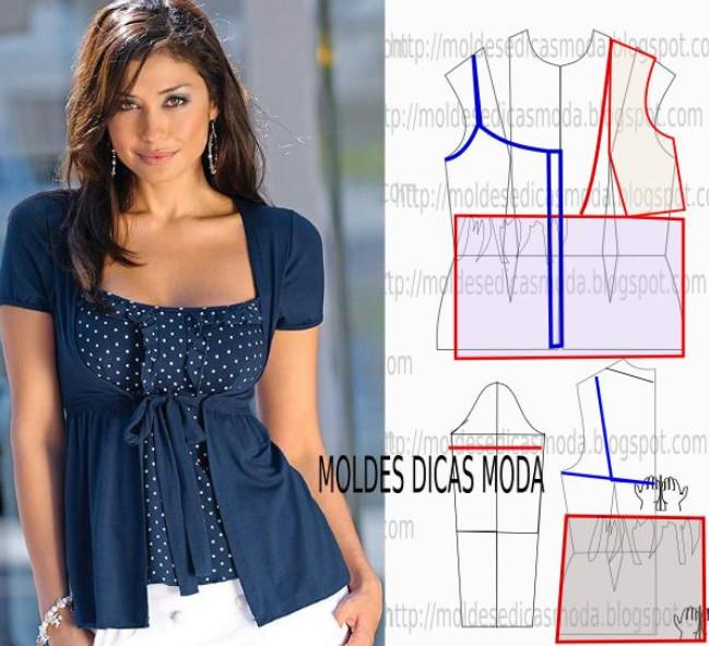Как быстро сшить летнюю блузку без выкройки Шьем 6
