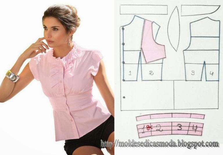 Летняя рубашка женская сшить своими руками