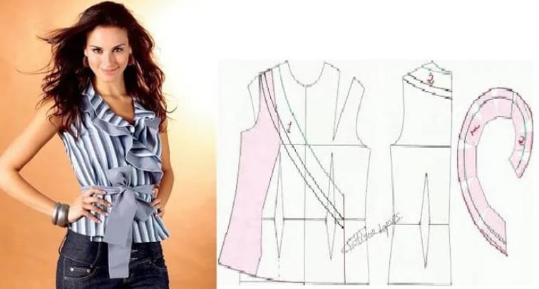 Реально БОЛЬШАЯ подборка модных легких блузок с выкройками, которые можно сшить за пару часов! Это стоит сохранить... (Часть 2)