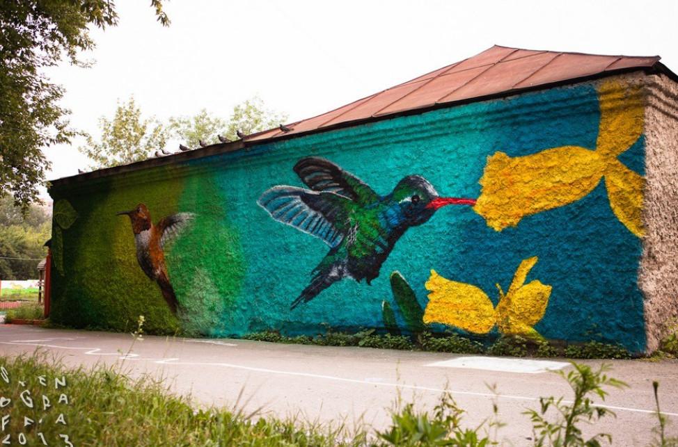 Пришли ребята с баллончиками и навели красоту! Рисунки на стенах или граффити на вашем доме...