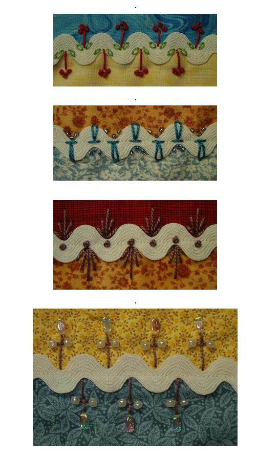 Нестандартное использование тесьмы зиг-заг... Получается красиво и необычно!