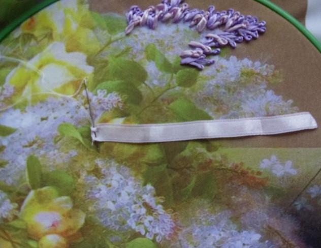 Вышиваем сирень лентами... Удивительно красиво!