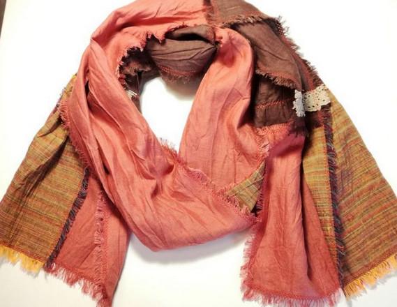 Оригинальный льняной шарф в стиле бохо... Я поняла, чего не хватало в моем гардеробе!