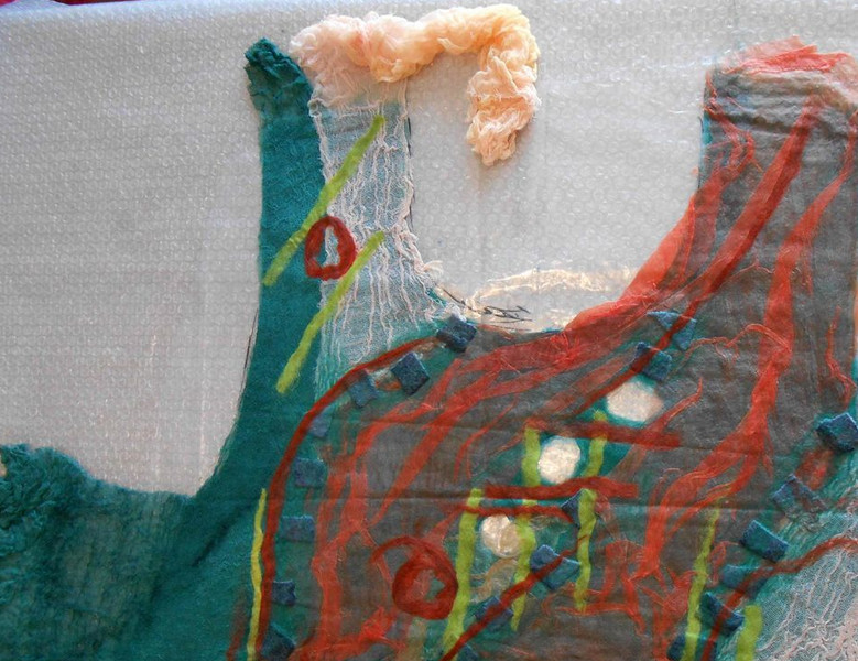 Создаем оригинальную тунику из марли и шерсти... Урок, после которого точно пора попробовать!