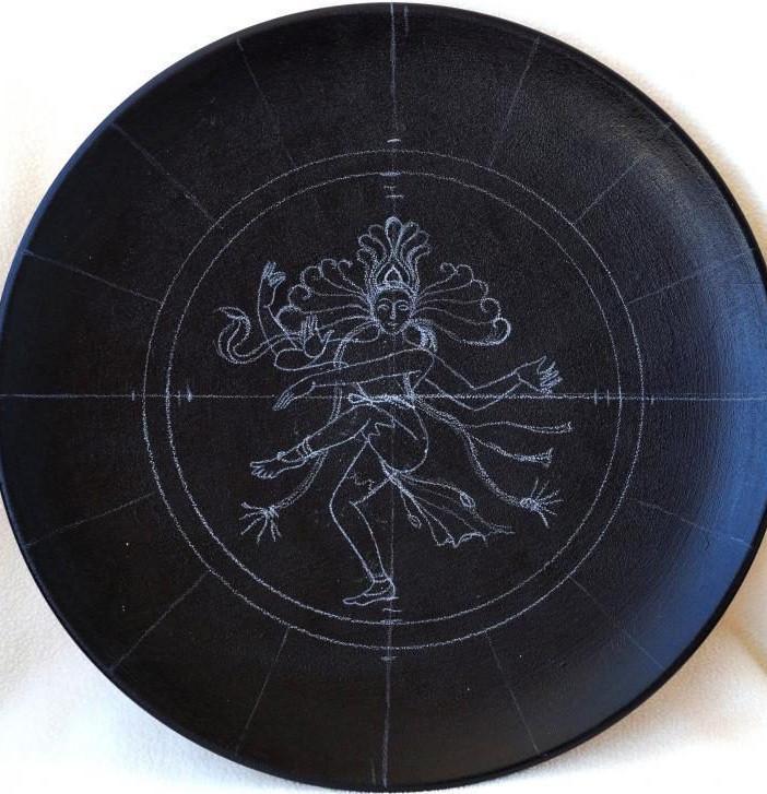 Точечная роспись тарелки-панно... Творим и ещё раз творим!