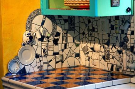 Как использовать остатки кафельной плитки для дома... 20+20 блестящих решений! (Часть 2)