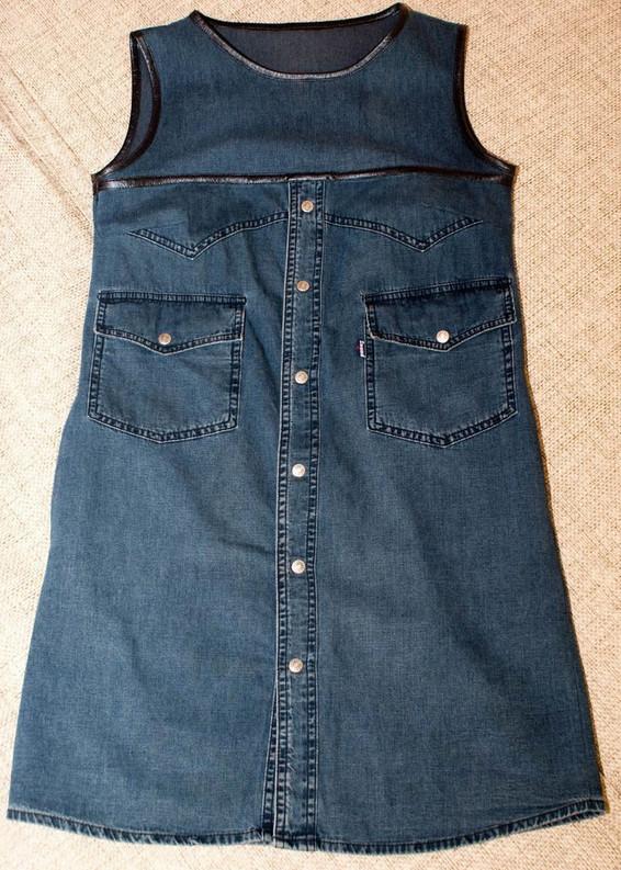 Стильное платье из джинсовой рубашки... Чувствую летом, я буду самая красивая!