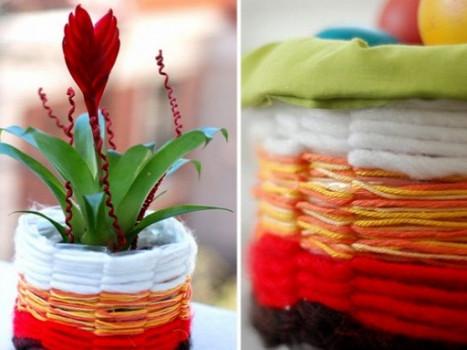 Превращаем обычную пластиковую бутылку в дизайнерский цветочный горшок... Немного фантазии и шедевр готов!