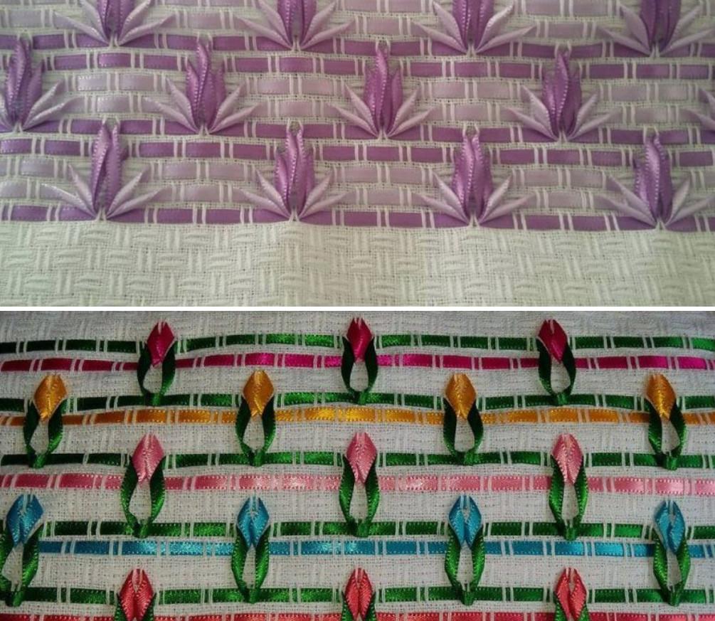 Вышивка лентами - самые необычные идеи... Придумываем и вышиваем!