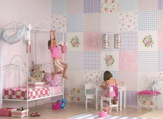 Остатки обоев: 10 идей и 30 примеров их использования... Идея №2 сделает детскую более чем красивой!