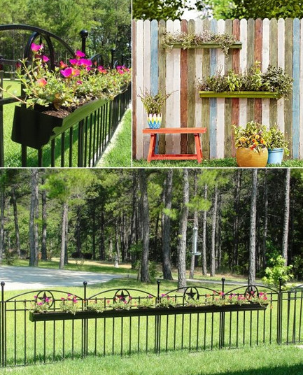 9 чудесных идей дизайна кашпо с цветами для садовой изгороди... Идею №3 я обязательно применю!