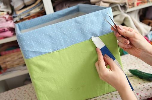Мастерим декоративную коробку для хранения тканей... Красиво, просто и удобно!