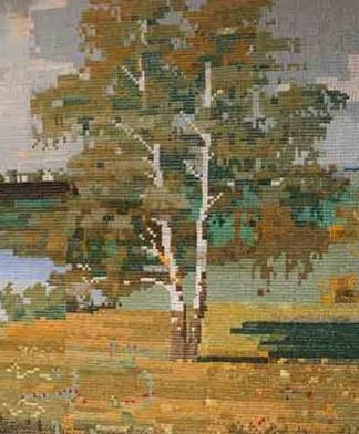 Бабушка-рукодельница вышила самую большую картину... 25 лет и картина в 9 метров!