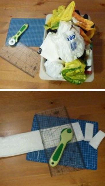 Оказывается, из мусорных пакетов может получиться крутой коврик в ванную... Точный способ сделать что-то необычное!