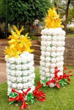 Пластиковые бутылки в ландшафтном дизайне... Вот уж где фантазия, так фантазия!