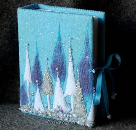 Лучшие идеи для вышивок с пейзажами... Здесь вы найдете даже обложки книг, варианты вышивок варежек и не только!