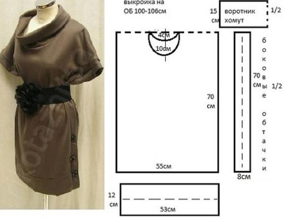 Блузки и платья с выкройками на любой вкус! Выкройка и индивидуальный пошив актуальны во все времена...