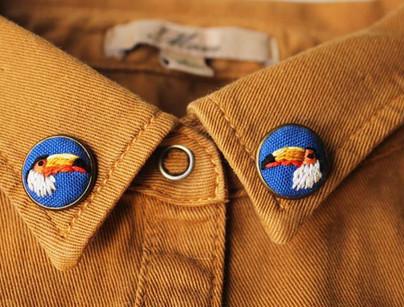 Модные вышитые аксессуары: воротники, сумки, галстуки-бабочки… 12 суперидей!