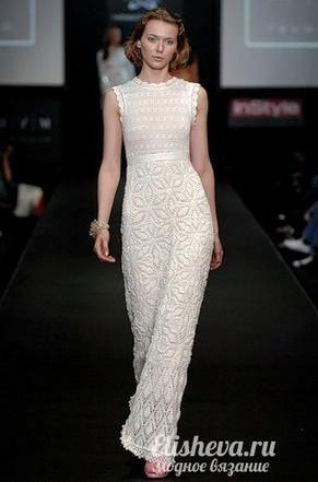 Длинное вечернее платье в пол вязаное крючком «Летний зефир»... Поистине все красивое и изящное просто!