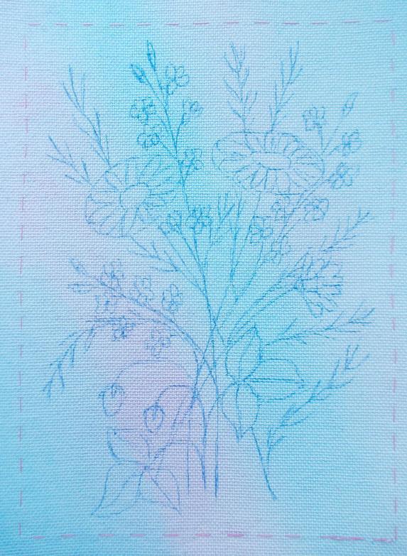 «Летний букет»: вышиваем картину в смешанной технике (Часть 1)