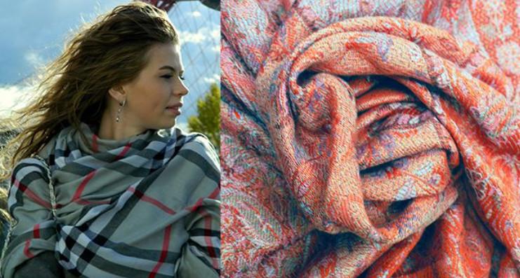 10 простых способов носить палантин на пальто... Сделайте палантин изюминкой вашего образа!