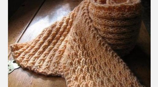 Красивая и простая вязка узором «колосок» для вязания шарфа... Вяжется быстро!