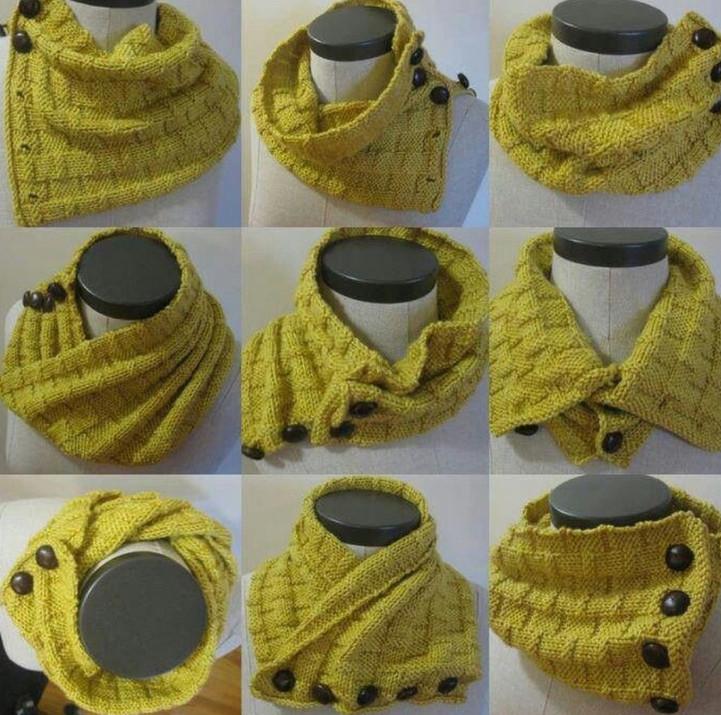 Когда хочется тепла: 50 идей вязанных аксессуаров... Я бы точно от красивой шали не отказалась!