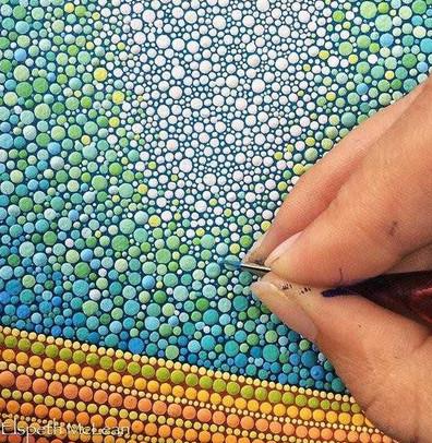 Идеальная гармония цвета в точечной росписи Элспет Маклин... Такая необыкновенно красивая геометрия!